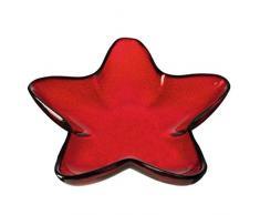 LEONARDO - Sternschale/Schale/Glasschale/Dekoschale - Rosso - Glas - rot - 39cm