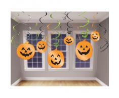 amscan International 679467 Dekoration zum Aufhängen Swirl Halloween Party Set