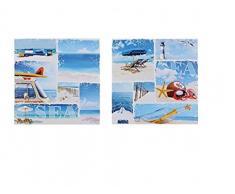 2 Bilder Bild WANDBILD KEILRAHMEN MARITIM ca. 60 X 60 CM Strand Meer Wasser Sea Leuchtturm