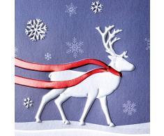 """Sigel DS017 Weihnachtskarten """"Winter's Eve"""", inkl. Umschläge, DIN lang, 10 Stück, mit Rot-/Blindprägung,"""
