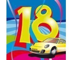 Geburtstagsservietten 18 Geburtstag Deko Party Automotiv Servietten 20 St.