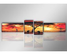Visario Leinwandbilder 6701 Bild auf Leinwand Afrika, 145 x 30 cm
