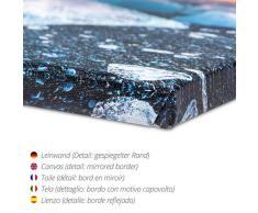 Leinwandbild 60 x 40 cm: Der maritime Setzkasten von Monika Jüngling - fertiges Wandbild, Bild auf Keilrahmen, Fertigbild auf echter Leinwand, Leinwanddruck