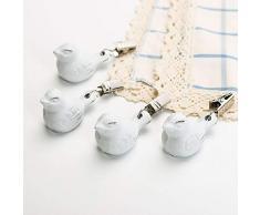 Sungmor Gusseisen-Tischdeckengewichte mit Clip, 4 Stück, cremefarben/Weiß 4 Stück