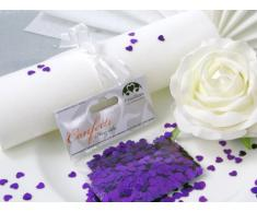 14g Streudeko Konfetti Hochzeit EinsSein® Herz klein lila metallisch Tischdeko Hochzeit
