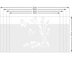 Graz Design 980147_110x57 Sichtschutzfolie Fenstertattoo Fensteraufkleber Kinderzimmer Schmetterlinge Blumen (Gre=110x57cm)