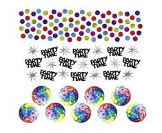 NET TOYS 34g Deko Konfetti 70er Jahre Hippie Party Tischkonfetti Bunte Dekokonfetti Disco Partykonfetti Geburtstag Tischdeko
