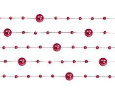 6,5 m Perlengirlanden Rot - Perlengirlande Dekoschnur Perlenkette