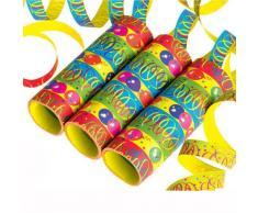 Luftschlangen Ballon Party, 3 Rollen