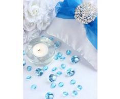 SiDeSo® Dekosteine türkis 12mm Diamanten 100 Stück Acryl Tischdeko Hochzeit