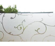 statische Fensterfolie Universal Sichtschutzfolie selbstklebend Rebe S007 (60*150cm)