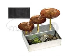 Solar-Zimmerbrunnen inkl. Solarzelle 12,5x15 cm Bausatz f. Kinder Werkset Bastelset ab 13 Jahren