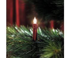 Konstsmide 2316-550 Rote Baumkette mit gefrosteten Birnen und Wachsoptik/für Innen (IP20) / 230V Innen / 20 gefrosteten Birnen/grünes Kabel