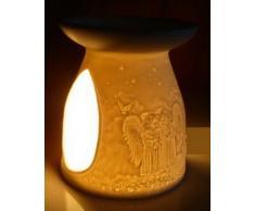 Duftlampe Porzellan Angels, Maße: 12, 0 x Ø 10, 5 cm Gewicht: 0, 27 kg Material: Porzellan