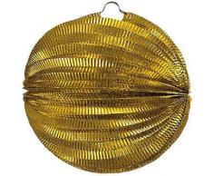 Lampion rund, ca. Durchmesser 24 cm, gold