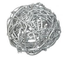 NEU Rattan Dekoball Ø 3, 4 & 7 cm, silber,10 Stk