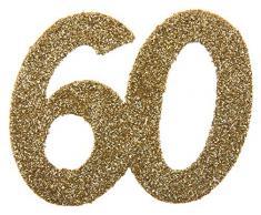 60 60 60 Geburtstag Confetti 60 Geburtstag Konfetti 60 Streudekoration Gold