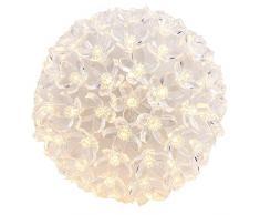 LED-Leuchtkugel Kirschblüte, Ø 14cm, warmweiß, mit 100 LED-Lämpchen, inkl. Timerfunktion, batteriebetrieben | Leuchtball, Fensterdekoration, Raumdekoration für Frühling, Sommer