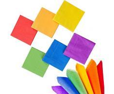whaline 120 Stück Cocktail Papier Serviette Getränke Servietten 2-lagig für Party Dekoration (Rainbow Farbe)