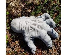 lustige Steinfigur rießige Hand frostfest Deko Garten Terrarium Halloween Eiskaltes Händchen T