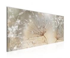 Bilder Blumen Pusteblume Wandbild Vlies - Leinwand Bild XXL Format Wandbilder Wohnzimmer Wohnung Deko Kunstdrucke Gelb 1 Teilig - MADE IN GERMANY - Fertig zum Aufhängen 205512a