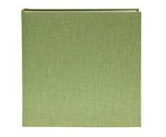Goldbuch Fotoalbum, Summertime Trend, 30 x 31 cm, 100 weiße Seiten mit Pergamin-Trennblättern, Leinen, Hellgrün, 31805