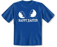 Geschenkidee zu Ostern Fun T-Shirt: Happy Easter, Frohe Ostern Osterei - Farbe: Royal-Blau - Goodman Design ®