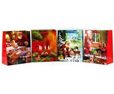 Geschenktüten Medium (Mittel) Weihnachtstasche Weihnachtsbeutel Beutel Geschenktaschen Weihnachten 821 (24 Stück)