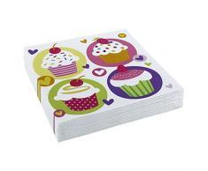 Muffin Papierservietten Törtchen Dekoservietten 20 Stk. Cupcakes Motivservietten Cupcake Servietten Partydekoration Geburtstag Kinder Tisch Deko Papier Kaffee Partyservietten Tischdeko