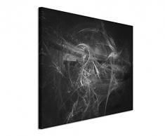 Sinus Art Abstrakt 1088-120x80cm SCHWARZ-Weiss Bilder - Wandbild Kunstdruck in XXL Format - Fertig Aufgespannt – TOP - Leinwand - Wand Bild - Kunst Bild - Wandbild abstrakt XXL