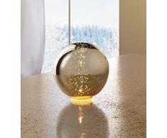 """LED-Kugel """"Goldglanz"""" KUGELLAMPE LEUCHTKUGEL LED KUGELLEUCHTE GLASKUGEL LICHTKUGEL DEKOKUGEL"""