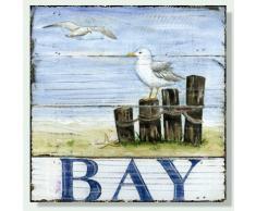 Baygifts Wandbild, maritim, Holz - schwarz