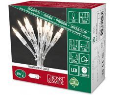 Konstsmide 6300-123 LED Minilichterkette / für Innen (IP20) 230V Innen / One String / mit Schalter / 10 warm weiße Dioden / transparentes Kabel