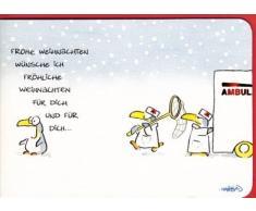 Weihnachtskarte Verrückter Pinguin
