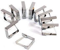 Tischtuchklammer Edelstahl 8 Stück -K&B Vertrieb- Tischdeckenklammer Tischdeckenhalterung Tischklammer Tischtuchklammern 470