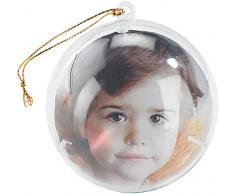 Your Design Weihnachtsbaum Kugeln: Transparente Weihnachtsbaum-Kugel mit Ihrem Foto, 4er-Set (Fotokugel)