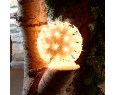Lunartec Dekorative Leuchtkugeln: Dekorative Leuchtkugel mit 50 Birnchen, 12 cm (Leuchtkugeln Weihnachten)