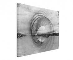 Sinus Art Abstrakt 1478-120x80cm Schwarz-Weiss Bilder - Wandbild Kunstdruck in XXL Format - Fertig Aufgespannt – Top - Leinwand - Wand Bild - Kunst Bild - Wandbild Abstrakt XXL