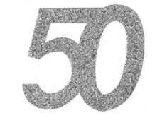 50 50 50 Geburtstag Confetti 50 Geburtstag Konfetti 50 Streudekoration