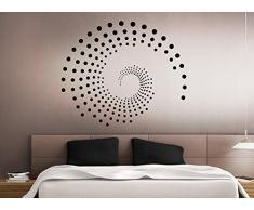 Grandora Wandtattoo Ornament Kreise Punkte I Silbergrau (BxH) 100 x 84 cm I Wohnzimmer Schlafzimmer Flur Wandaufkleber Wandsticker Aufkleber Sticker W941