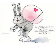 Janosch POSTkarte Ostern .ein kleines Osterei von mir