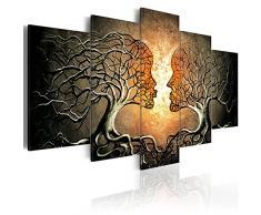 murando - Bilder Bäume Liebe 200x100 cm Vlies Leinwandbild 5 TLG Kunstdruck modern Wandbilder XXL Wanddekoration Design Wand Bild - Abstrakt h-A-0086-b-p