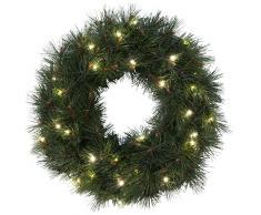 Star LED-TannenkranzRussian Pine, beleuchtet, 30 warmweiß LED outdoor, Trafo Karton, Durchmesser 50 cm 612-75