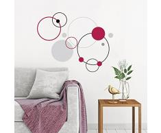 Eurographics DS-DT2049 Deco Sticker / Wandtattoo Red Bubbles 50x70cm