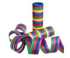Susy Card 11144680 - Luftschlangen, Streifen, farbig, sortiert, 3 Rollen