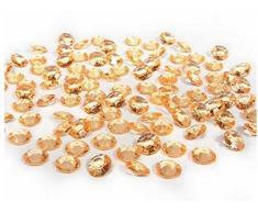 Unbekannt partydeco adc12 – 019-karton – 100 Dekosteine Diamanten aus PVC, Gold