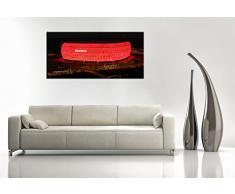 Berger Designs - Wandbild XXL (Bayern München Arena 40x120 cm) Deko Bild fertig gerahmt mit Keilrahmen. Schöner Kunstdruck auf Leinwand. Made in Germany - Qualität aus Deutschland