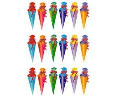 Oblique Unique® Zuckertüte Konfetti 18 STK. Zuckertüten Tisch Dekoration Streu Deko Schuleinführung Einschulung Schulanfang Schule