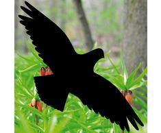 4 Stück 30cm schwarz Vogel Aufkleber die cut Tattoo Warnvögel Fenster Schutz Deko Folie