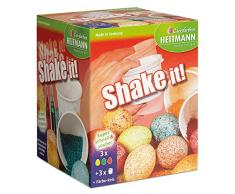 Heitmann Eierfarben 30054 - Bastelset Ostern 3 teilig, inklusive Shake it! Eierfarbe für ca. 12 Eier